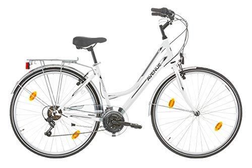 Frank Bikes 28 Zoll Damen Fahrrad CITYFAHRRAD DAMENFAHRRAD CITYRAD DAMENRAD Shimano 6 Gang Avenue Weiss Lady