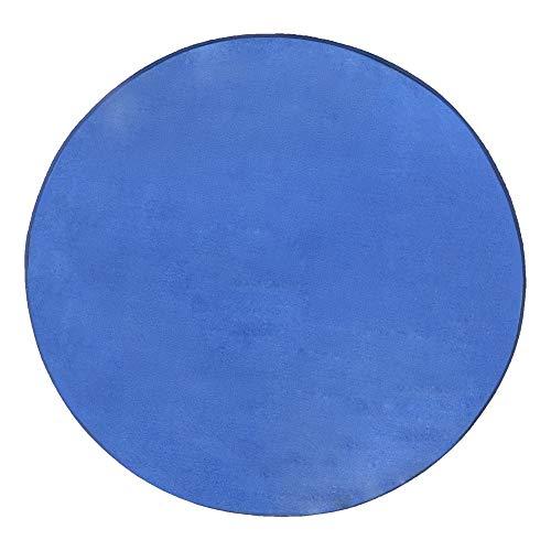 Zorazone Alfombra Infantil Redonda 100cm Muchachos Tienda de Campaña para Niños Suelo Bebe Estera de la Tienda (100cm Redondo Azul Marino)