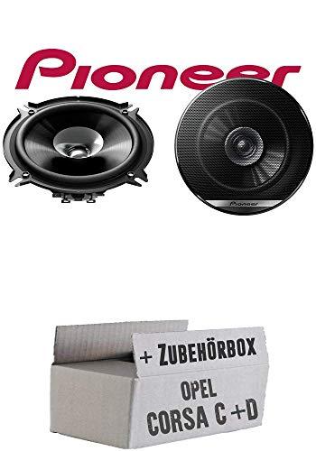 Lautsprecher Boxen Pioneer TS-G1310F - 13cm Doppelkonus 130mm PKW KFZ Auto Einbausatz - Einbauset für Opel Corsa C + D Tür hinten - JUST SOUND best choice for caraudio