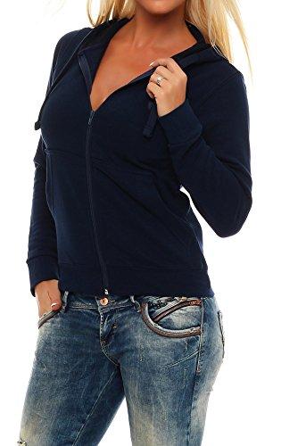Gennadi Hoppe Felpa da donna con cappuccio e cerniera lampo Blu XS