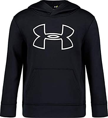 Under Armour Boys' Little Big Logo Hoodie, Black H19, 5