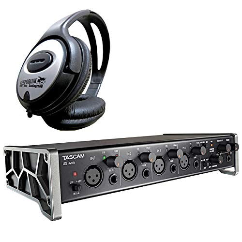 Tascam US4x4 - Interfaz de audio USB y auriculares Keepdrum