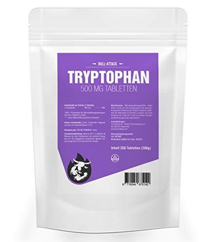 TRYPTOPHAN 500 mg - 250 vegane Tabletten | natürliche Ergänzung bei Schlafstörungen | Regeneration & Wohlbefinden (250 Tabletten)