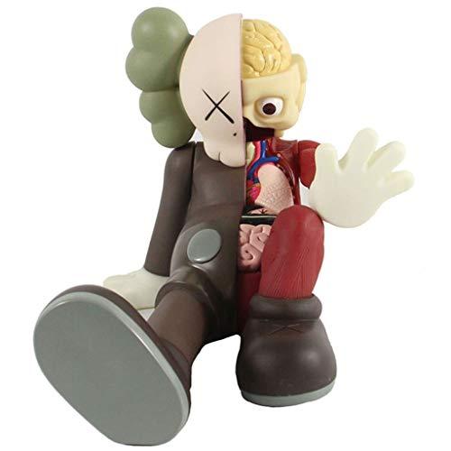 LRWTY Kunst Spielzeug!KAWS Original Fake Kunst Spielzeug Sitzen Sitzen Dissected Companion Modell Action-Figur Figurine/Hauptdekoration Schlafzimmer Kunstwerk Sammler Modell Spielzeug for Valentinst