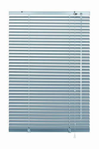 erfal Aluminium-Jalousie Wand- und Deckenmontage, inklusive Montage-Teile, Alu-Jalousie für Fenster und Türen B = 65 cm x H = 130 cm Silber