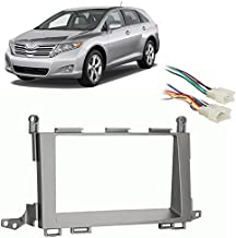 Compatible with Toyota Venza 2009-2012 Double DIN Stereo Harness Radio Install Dash Kit