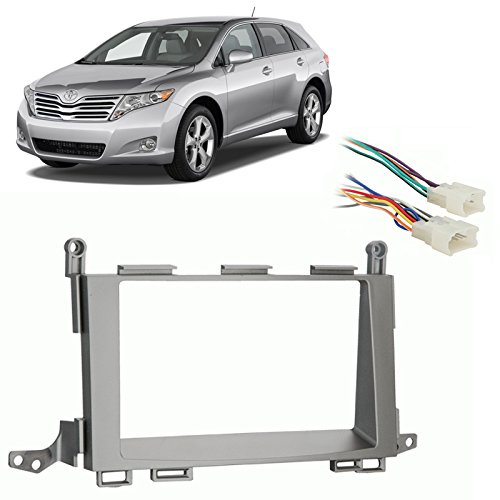 fits toyota venza 2009-2012 double din stereo harness radio install dash kit