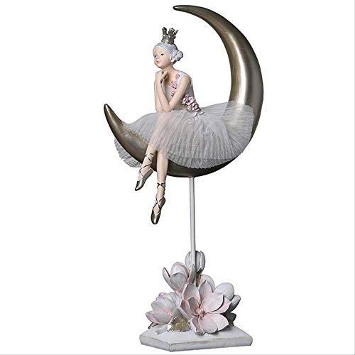 GIAO Adornos para Salon Modernos Decoracion Casadecoración De Resina De Niña De Ballet Decoración De Habitación Infantil Decoración Creativa Pequeña Decoración del Hogar