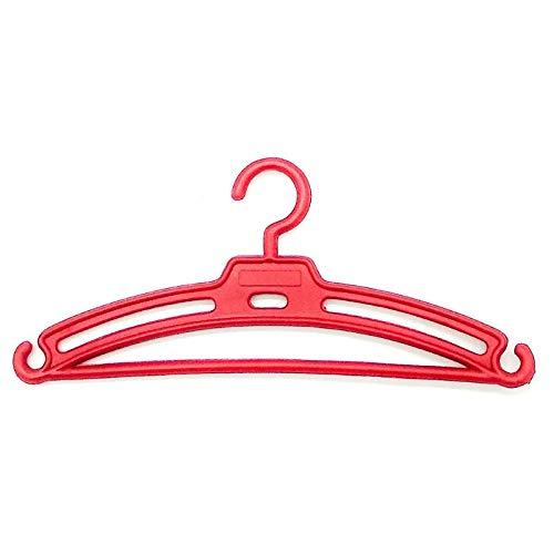 Folk Artesanía Lote 12 Perchas para Nancy Famosa en Color Rojo. Válido para Sintra, Noa, Barbie