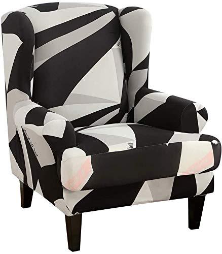Funda elástica universal para sofá de 2 piezas con reposabrazos extraíbles, protector de muebles