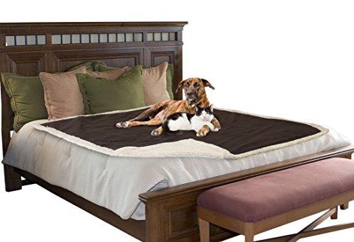 Pawsse copertina impermeabile per animali domestici, cuccioli di cane o gatto, in pile e sherpa, protegge anche tappeti, cuscini, seggiolini auto, mobili, dimensioni 127x 152cm