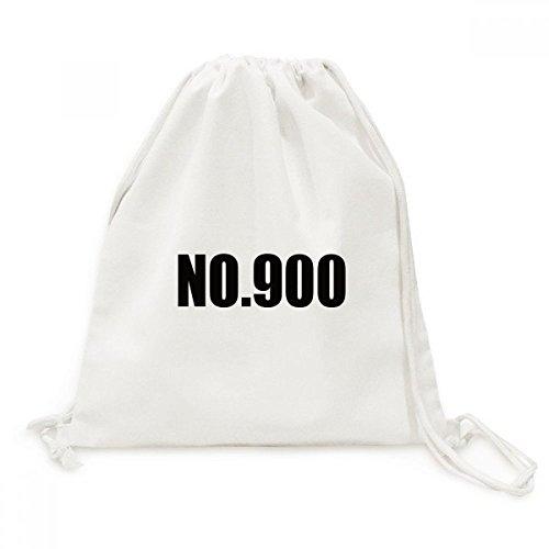 DIYthinker Glück No.900 Nummer Name Canvas-Rucksack-Reisen Shopping Bags