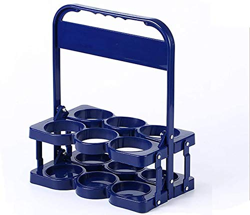 Apark Bierträger Flaschenträger für bis zu 6 Flaschen (550 ml), Kunststoff Bierkiste/Flaschenträger, Stabiler Kunststoff Flaschenträger 6 Zylinder Flaschenkorb (PP), 33 x 28 x 18 cm (Blau)