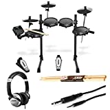 Alesis Turbo Mesh 7 Piece Electronic Drum Kit With a Pair of Drum Sticks + Headphones + 3.5 mm...