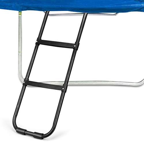 Gardenature Trampoline Ladder-2 Steps Wide-Step Ladder-Black