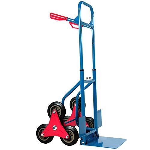 Deuba Carretilla de transporte con ruedas para escaleras carga...