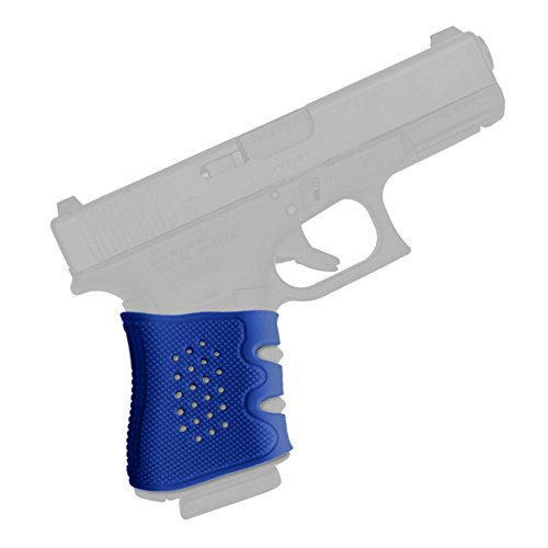 Handgun Grip Sleeve ✮ Compatible with Glock ✮ The Ultimate Silicone Rubber Sleeve ✮ Fits G17 / G19 / G20 / G21 / G22 / G23 / G31 / G32 / G37 / G38 ✮ (Blue)