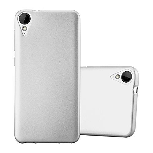 Cadorabo Hülle für HTC 10 Lifestyle/Desire 825 in METALLIC Silber - Handyhülle aus flexiblem TPU Silikon - Silikonhülle Schutzhülle Ultra Slim Soft Back Cover Hülle Bumper