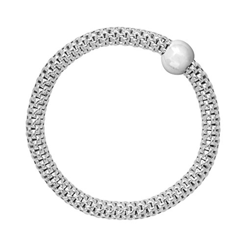 Silpada 'Chic' Sterling Silver Stretch Bracelet, 7-7.75'
