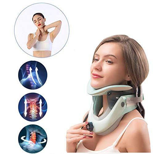 JPJINGZHUI Dispositivo de tracción Cervical Collarín Cervical Collar Cervical Ajustable Inflable para Dormir Alivia el Dolor y la presión en la Columna Vertebral con Bomba