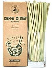 Strawmee Green Straws, natuurlijk gegroeide grasrietjes, stabiel, duurzaam, biologisch afbreekbaar, herbruikbaar, het plasticvrije alternatief.