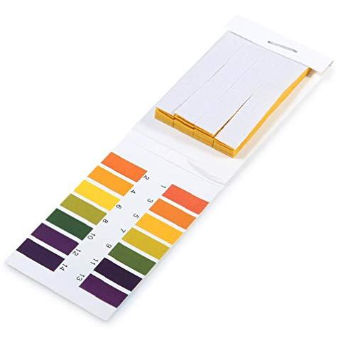 shentaotao 1pack (80pcs) Ph Lackmuspapier 14.01 Alkaline Acid Test Papier Tragbarer Wasser Lackmus-Test-kit