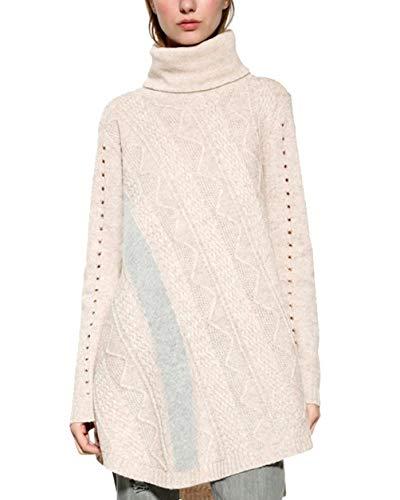 Desigual Pullover Bordado Patchwork Ontwerp (crème)