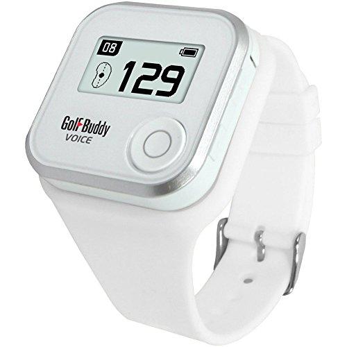 Golf Buddy Voice Plus GPS Range Finder GolfBuddy GPS telémetro con pulsera blanco distancia y manual en Inglés y rápida de audio libre regalo cinta métrica