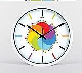 YLCJ Einfache Digitaluhr Einzelzimmer Klassische Uhr Kreativer Weckermodus Stummschaltung Quarzuhr Quarz Art Lounge (Weiße Farbe Größe: 12)