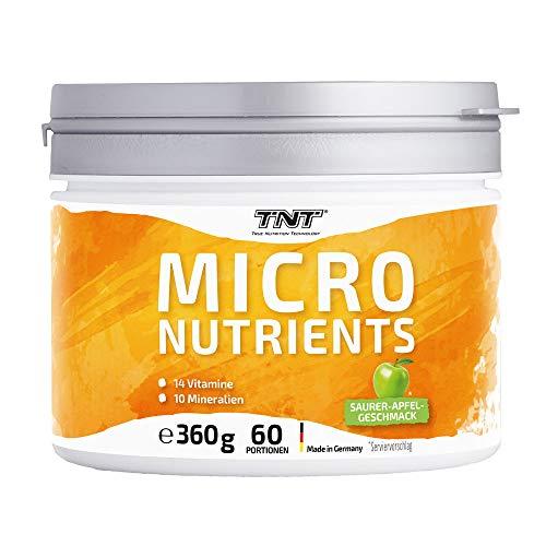 Multivitamin Pulver hochdosiert mit 24 Vitaminen & Mineralien - Superfood Vitamin-Komplex / 360g (Sour Apple)