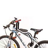 Macium Kindersitz Fahrrad, Abnehmbarer Fahrrad-Vordersitz Kindersitz Pedal mit Griff für Herrenfahrrädern und Damenrädern
