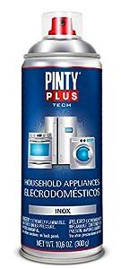 PINTYPLUS TECH 150 Pintura Spray electrodomésticos 520cc INOX E150, Acero Inoxidable, Estándar