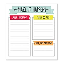 VIBRANT DESIGN: The bright and colorful Aim High Notepad brings a fun and happy touch to your daily school routine or goal-making list and is a delightful replacement to your typical stationery. WHAT'S INCLUDED: Every decorative notepad includes 50 p...