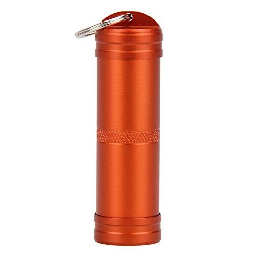 Pastillero Caja de aluminio a prueba de agua Caja de la caja de la caja de la caja de la caja del carro de la caja del recipiente del contenedor de la caja de la medicina Cuidado de la salud fácil de