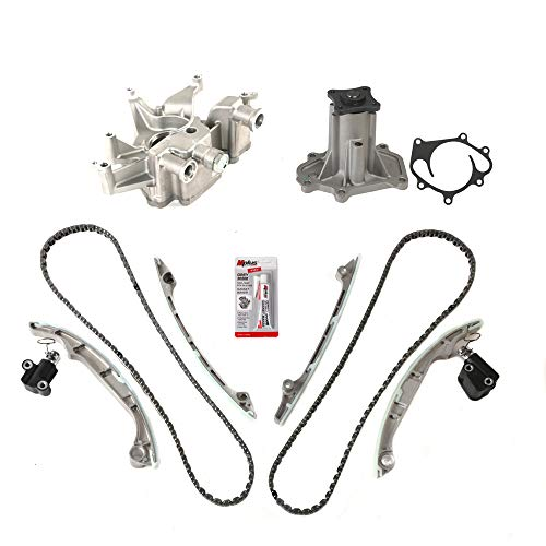 Timing Chain Kit with Oil Pump Water Pump Compatible with 04-06 for Infiniti QX56 / 05-09 for Nissan Armada / 04-09 for Nissan Pathfinder / 04-09 for Nissan Titan VK56DE