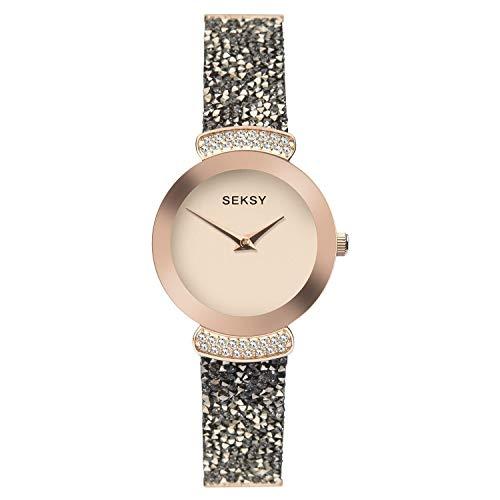 Sekonda Seksy Rocks antracite cristallo e placcato oro rosa orologio 2716
