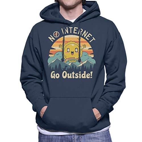Geen Internet Vibes hooded sweatshirt voor heren