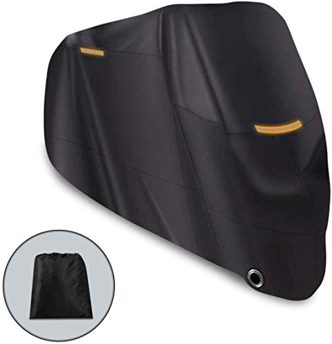 Riider Motorbike 210D Waterproof Cover, Motorcycle Outdoor Storage, Heavy Duty Durable Thick Oxford Fabric Cover for All Seasons, Perfect for Outside Storage, Moped Accessories, XXL, 96.5x41x50inch