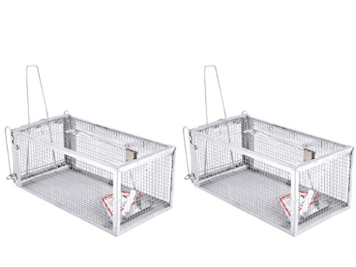 2 Pack Live Animal Humane Trap Catch and Release Rats Mouse Mice Rodents and Similar Sized Pests 2 Pack