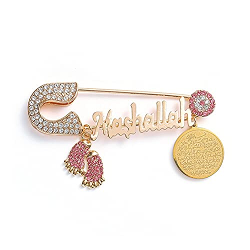 XiaoG Classic Religious Style Muslim Islam Metal Brooch Collection (Color : 10274-Gold)