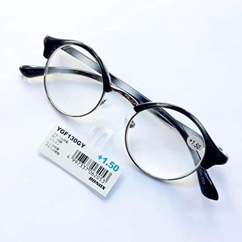 YGF130 老眼鏡 福祉 介護 ルーペ Reading Glasses シニアグラス ダルトン BONOX 男女兼用 敬老の日 プレゼント 母の日 (GRAY, 1.5)
