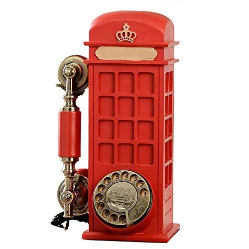 Antieke Huistelefoon, Hars Imitatie Koper Vintage Stijl Roterende Retro Ouderwetse Roterende Wijzerplaat Thuis En Kantoor Telefoon Telefoon Thuis Woonkamer Decor, Nocallerid