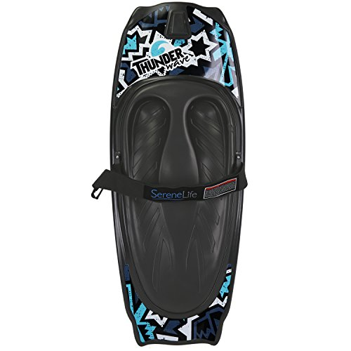 SereneLife Water Sport Kneeboard with Hook For Kids & Adults, Kneeboard with Strap for Boating, Waterboarding, Kneeling Boogie Boarding, Knee Surfing, (SLKB10)
