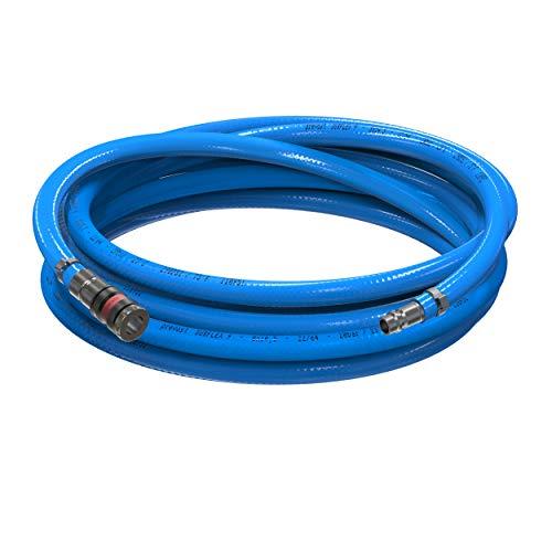 AUPROTEC Sicherheits Druckluftschlauch Set Prevost PVC-Schlauch Surflex Pro + Würth S2000 Sicherheits Kupplung Auswahl: (3m Meter, Innen Ø 9mm)