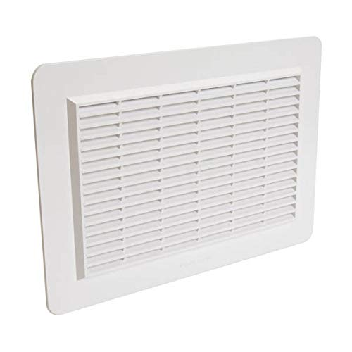 Nicoll - Grille d aeration speciale facade en applique rectangulaire horizontale blanc gapm2b