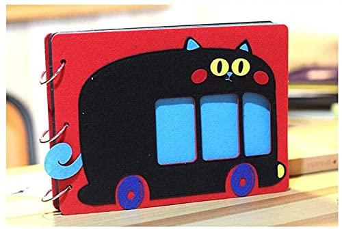 JIAChaoYi Album fotograficzny z filcu kreskówkowego, ręcznie wklejany album scrapbookingu, wzrost dziecka pamiątkowe wspomnienia z podróży (kolor: C)