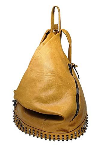CASIMIRRI 1892 ® Mochila, mujer, bolso tipo mochila, bolso de hombro, de piel sintética, casual, piel, elegante, multifunción, antirrobo, mochila de viaje, bolso de mano