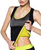 Women's Body Shaper Hot Sweat Slimming Sauna Vest Neoprene Shapewear for Tummy Fat Burner Weight Loss (Black1, US Size 2XL)