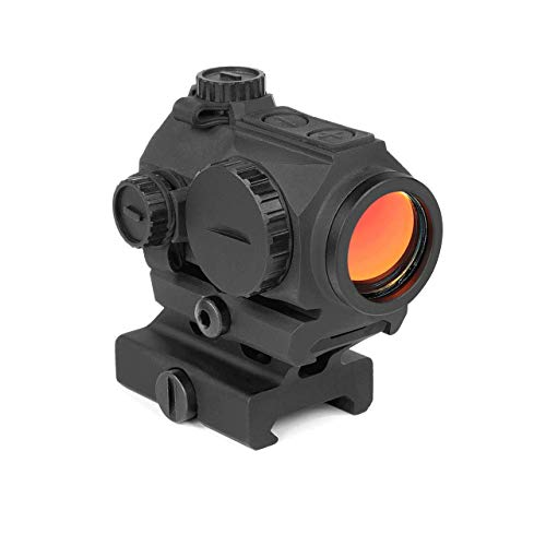 Northtac Ronin P10 Red Dot Sight 1X 20mm 2moa Autoon Low Profile Compact Picatinny Rail with Cowitness Riser Black