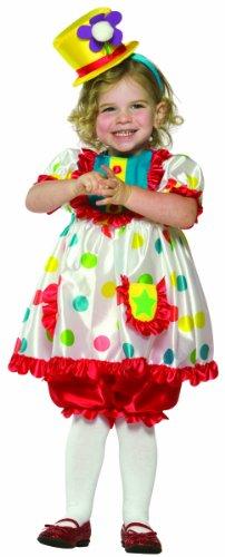 Rasta Imposta Clown Girl With Hat, Multi, 3-4T